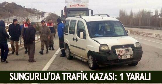 Sungurlu'da trafik kazası: 1 yaralı