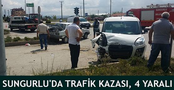 Sungurlu'da Trafik Kazası, 4 Yaralı