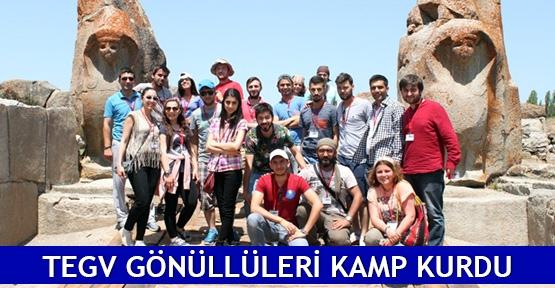 TEGV gönüllüleri kamp kurdu
