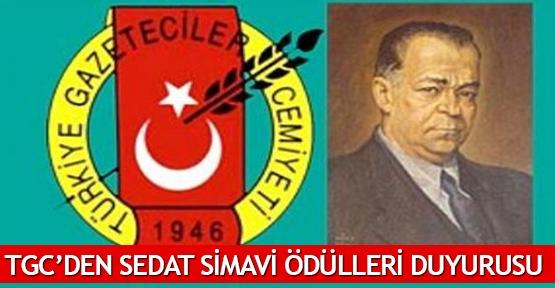 TGC'den Sedat Simavi  Ödülleri duyurusu