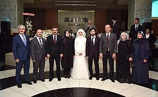 Mustafa Ercan'ın oğlu evlendi