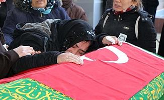 O cenazede gözyaşları sel oldu