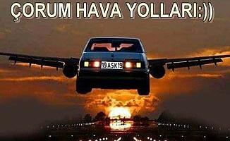 Çorumlu böyle de uçuyor(!)