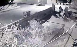 Hırsızlık saniye saniye kamerada