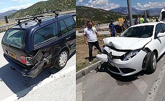 Aynı kavşakta üst üste kaza