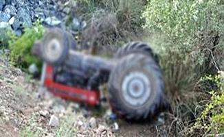 Traktör uçtu, 1 ölü