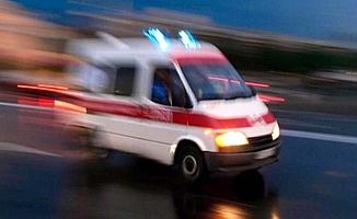 Kamyona arkadan çarptı, 2 yaralı