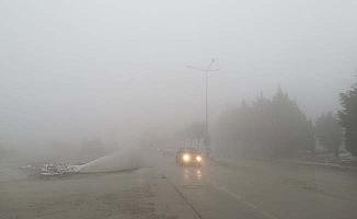 Çorum'da yoğun sis