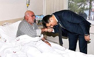 Hastaların duasını aldı