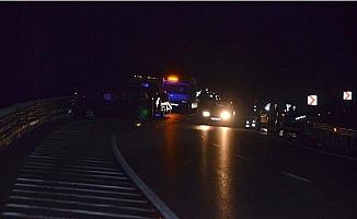 Kaza yapan araca bir başka araç çarptı, 6 yaralı