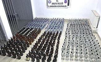 Tam 2 bin 674 şişe kaçak içki