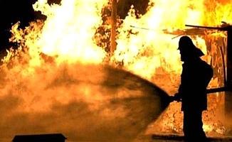 Yangınzede aileye yardım