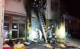 İşyerindeki yangın korkuttu