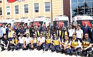 10 ambulans dağıtıldı