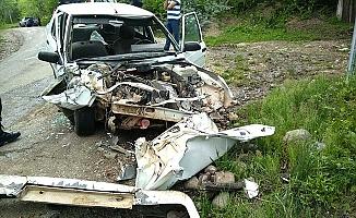 Kaza sonrası bu hale geldi