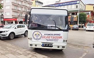 Alaca'da toplu taşıma ücretsiz