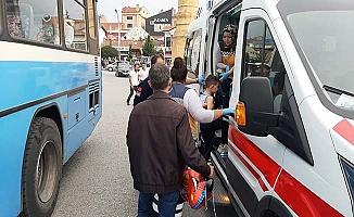 Çorum'un göbeğinde halk otobüsü kazası