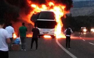 İstanbul otobüsünde yangın