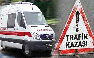 Minibüs kaza yaptı, 10 yaralı