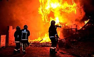 Çukurören'de yangın