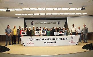 'Evlat Nöbeti'ne Çorum'dan destek