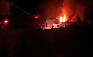 Köyde yangın paniği