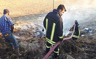 Salur'da yangın paniği