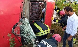 Tarım işçileri kaza yaptı, 5 yaralı