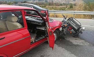 Motosiklet kazası, 2 yaralı