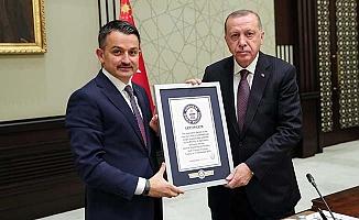 Çorum'un rekoru Cumhurbaşkanı Erdoğan'da