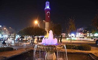 Saat Kulesi mavi oldu