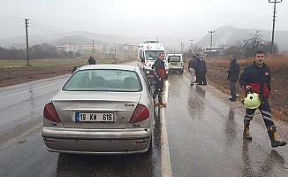 İskilip-Bayat yolunda kaza