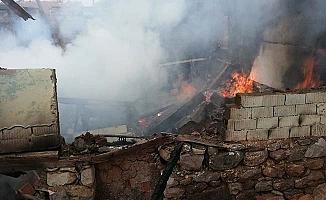 İskilip'te köy yangını