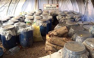 13 bin litre kaçak içki ele geçirildi