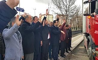 Gülabibey'den dualarla yola çıktılar