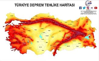 Güncel deprem haritasında Çorum