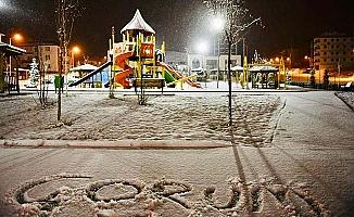 Ve Çorum'a kar yağdı