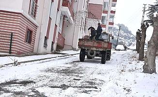 İlçelerde karla mücadele