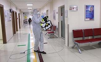 Hastanede her gün dezenfekte