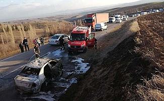 Osmaniye'de araç yangını