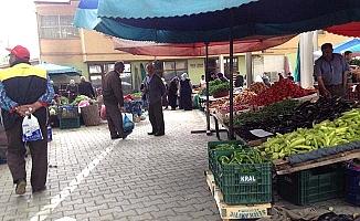 İskilip'te sebze pazarları kapatıldı