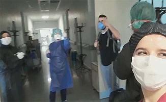 Hastaneden alkışlarla uğurladılar