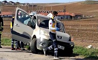 Ortaköy yolunda kaza