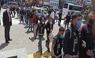 Suç örgütüne operasyon, 8 tutuklama