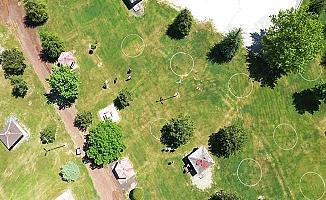 Çorum'da parklara sosyal mesafe ayarı