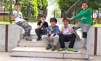 Sokaklar çocuklarla şenlendi