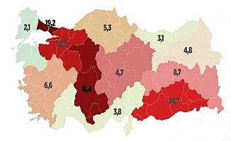 Koronavirüste bölgesel detaylar