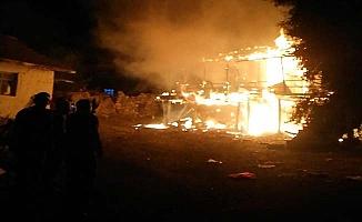 Sungurlu'da feci yangın, yaşlı çift yanarak can verdi