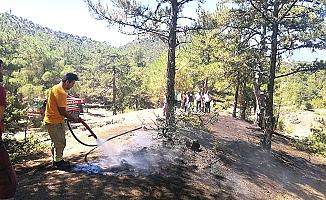 Aynı yerde 2 gün arayla orman yangını