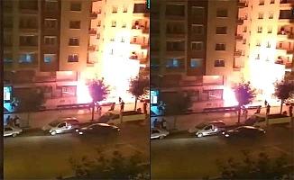 Osmancık Caddesi'nde yangın paniği